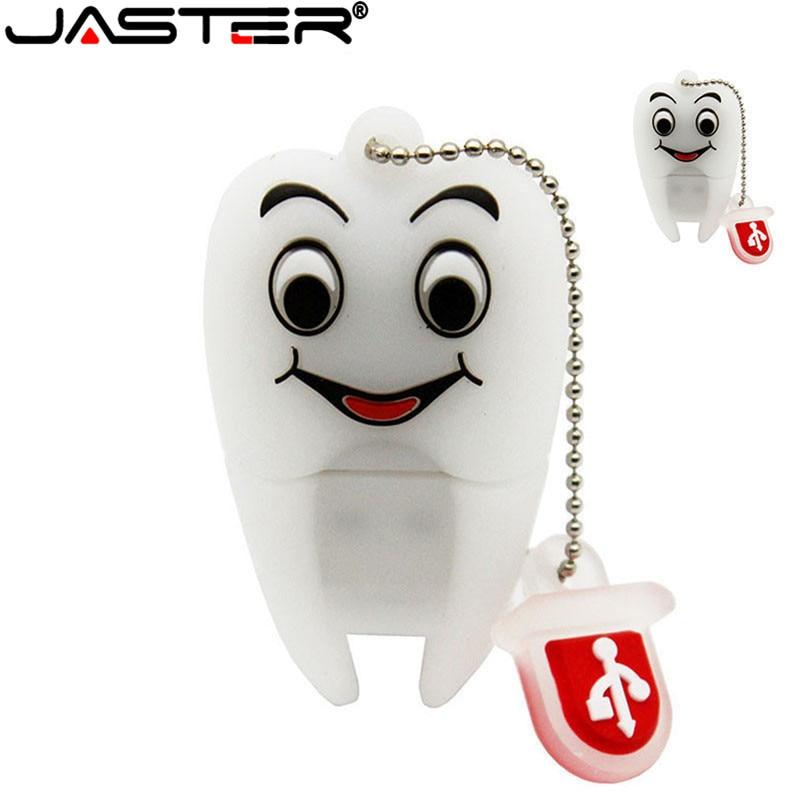 JASTER Pen Drive Gift Teeth Cute Model 8GB/16GB/32GB/64GB Usb Flash Drive, Tooth Flash Memory Stick Pendrive Dentist U Disk