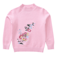 Baby Cartoon Sweaters For Girls Tops Winter Thick Knitted Sweaters For Kids Clothing O neck Pullover Knitwear 2 4 6 8 10 12 Year