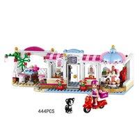 Hot mijn goede vrienden HeartLake Cupcakes coffeeshops bouwsteen stephanie cijfers meisjes clubs vespa bricks 10496 speelgoed voor kid