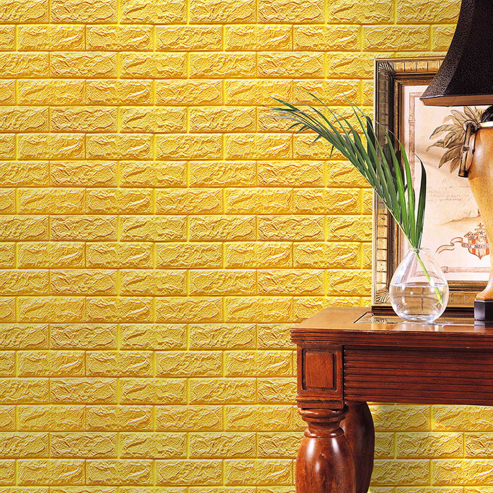 Newly Hot PE Foam 3D Wallpaper DIY Wall Stickers Wall Decor Embossed ...