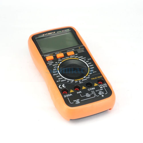 VC9801A+ Digital Multimeter Capacitance Ohm AC/DC Volt Meter Square Wave Output my68 handheld auto range digital multimeter dmm w capacitance frequency