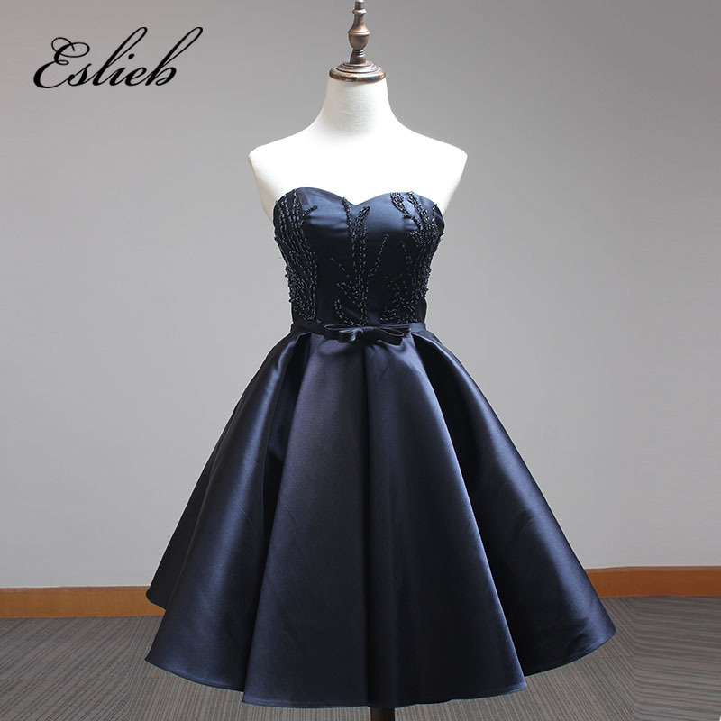 Off the Shoulder Elegant   Cocktail     Dresses   2017 Custom made Sweetehart Prom   Dress   Sewing Pearls Knee-Length   Cocktail   Gowns