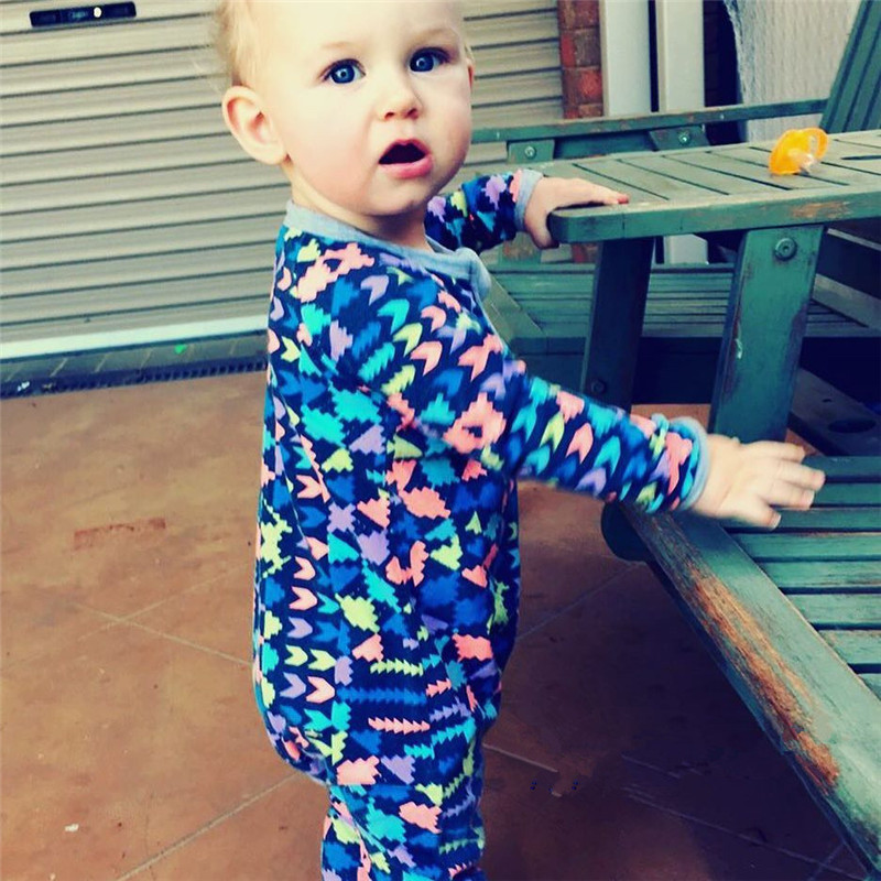 The Newborn sleepwear  Puzzle printing Cotton Baby Girls Boys long sleeve Romper Jumpsuit Outfits hot sale baby rompers cartoon cotton boys girls romper long sleeve coveralls for newborn cotton infant jumpsuit o neck newborn sleepwear
