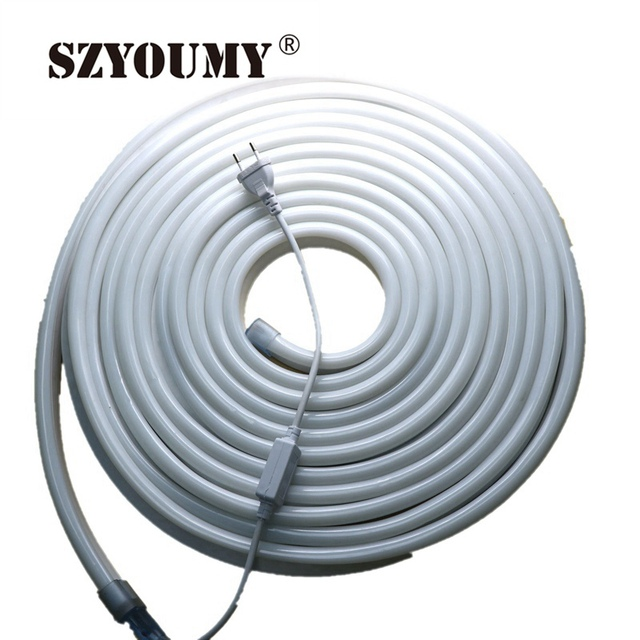 SZYOUMY 10m/roll 220V LED Flex Neon Light 2 wires With 80led/m Red ...