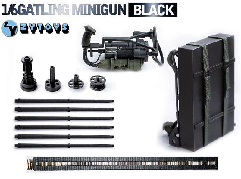 1/6 échelle Mini terminateur pistolet modèle M134 Machine lourde Minigun Gatling 8018 arme modèle jouet accessoire pour figurine