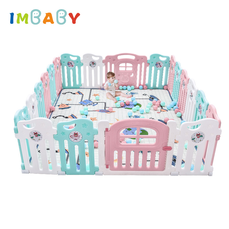 IMBABY Playpens 8pcs/14pcs/18pcs/22pcs Fence High Quality Child Safety Fences Home Crawling Baby Stalls Indoor Fence Playground fences