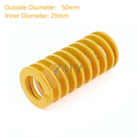 TF 50mm OD 25mm ID 125mm 150mm 175mm 200mm 250mm Long Yellow Light Load 65Mn Metal Spiral Stamping Compression Mould Die Spring