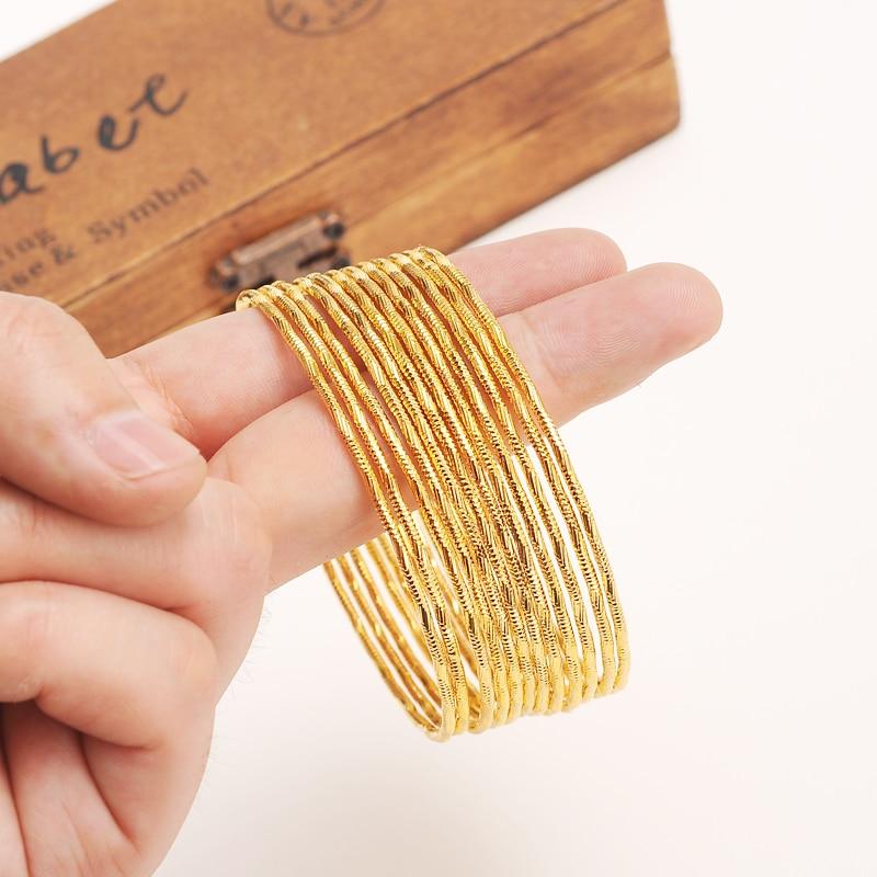 Bangrui velkoobchod zlato barva etiopský náramek náramek náramek africké ženy šperky zlato Dubaj velký kruh náramky