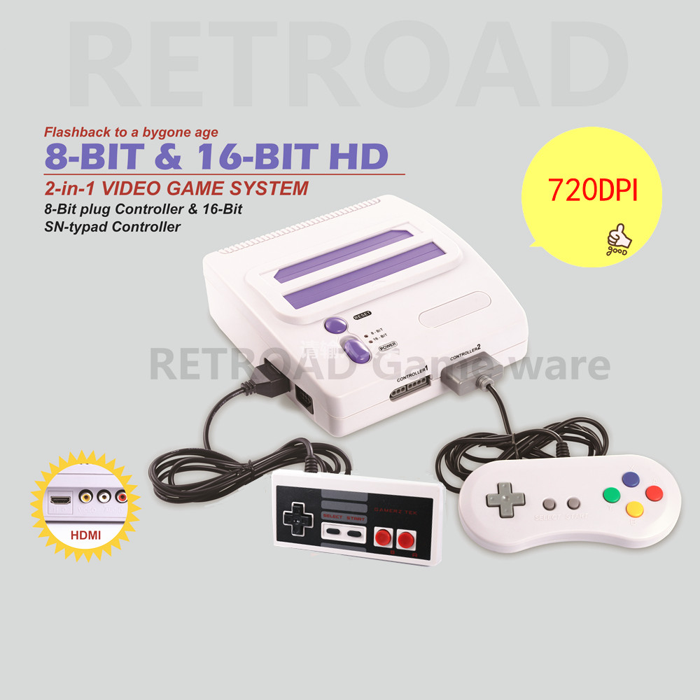 HDMI 8bit 16 bit Entertainment dual Video Game System 720DPI high clear picture for 4K good