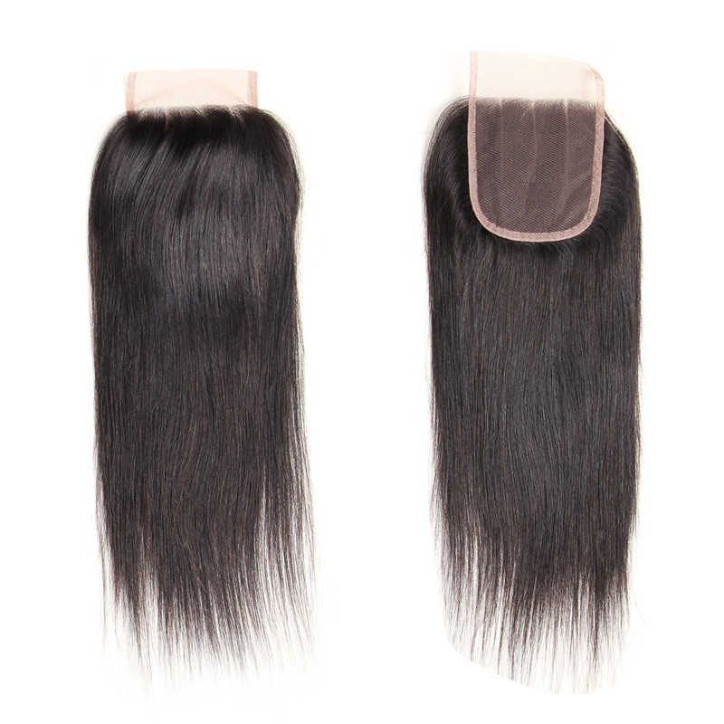 Peluca de pelo larga recta Mono hecha a mano 100% pelucas de cabello humano Peluca de peluquín pieza superior negro marrón oscuro