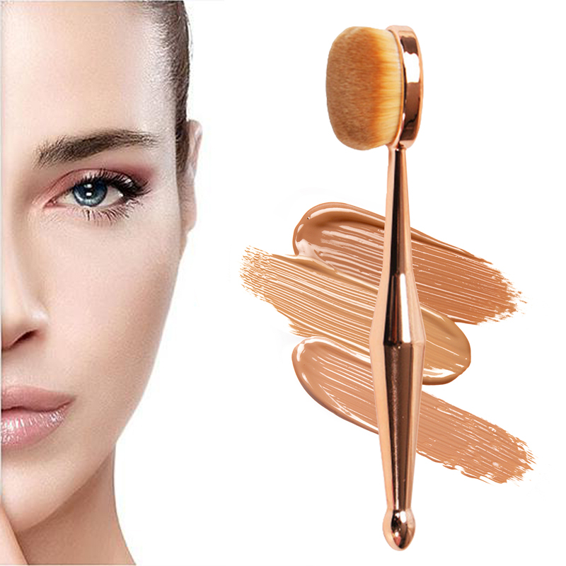 Professional Makeup Brush Toothbrush Shaped Beauty Mermaid Makeup Brush Foundation Oval Brushes image