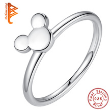 98c4effca BELAWANG 100% 925 Sterling Silver Ring Mickey Finger Ring for Women Sterling  Silver Jewelry Gift