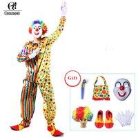 ROLECOS Costumi di Halloween Per Adulti Divertente Circo Clown Costume Impertinente Arlecchino Uniform Fancy Cosplay Abbigliamento per le Donne Degli Uomini
