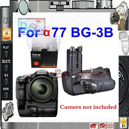 Camera DSLR Battery Power Holder Grip As BG-3B For SONY Alpha SLT-A77 A77 A77V A77II Mark II as VG-C77AM PM020 free shipping 95%new camera shurrer unit for sony slt a77 ii a77m2 a77 m2 shutter box plate replacement repair part