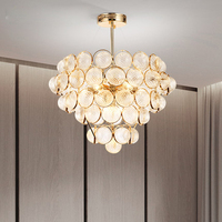 LED Modern Chandeliers Lights Fixture Gold Glass Balls Chandelier Home Living Room Bed Room Lamp 3 White Light Colors Dimmable