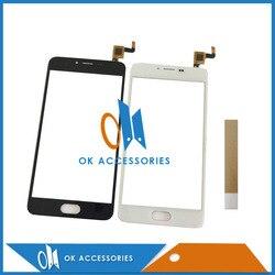 Czarny biały kolor dla Meizu M5 Mini ekran dotykowy ekran dotykowy panel dotykowy z taśmy