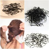 New 300pcs/pack Rubber Rope Ponytail Holder Elastic Hair Bands Ties Braids Plaits hair clip headband Hair Accessories