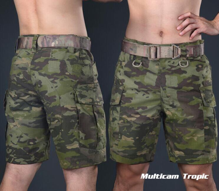 Warchief Multicam noir tropique militaire tactique Shorts Camouflage Cargo pantalon hommes Coyote marron loup gris (STG051132) - 3