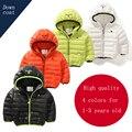 2015 Nuevo Invierno de los niños ropa de Bebé niño/niña abajo bebé chaqueta de algodón gruesa chaqueta de algodón caliente para 1-2-3 años de edad