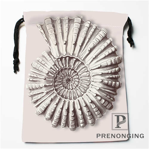 Custom Conch Drawstring Bags Printing Fashion Travel Storage Mini Pouch Swim Hiking Toy Bag Size 18x22cm #171203@3-08