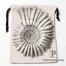 Custom Conch Drawstring Bags Printing Fashion Travel Storage Mini Pouch Swim Hiking Toy Bag Size 18x22cm