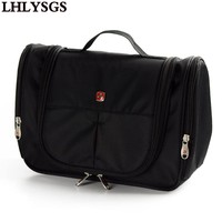 LHLYSGS Brand Men Travel Large Waterproof Toiletry Bag Women Beauty Cosmetic Bag Professional Hanging Make Up