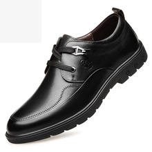 2019 famous brand high quality leather shoes men's business casual leather lace soft bottom black and brown leather shoes male