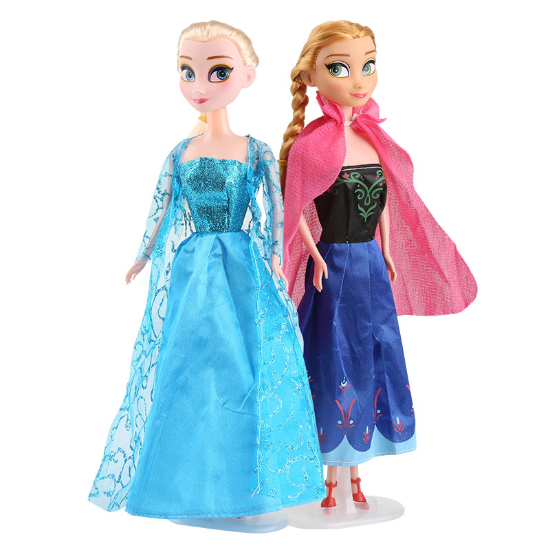 28 Cm Frozen Princess Anna Elsa Dolls Snow Queen Dolls  Girls Action Toy Figures Plush Toys For Kids Birthday Gift