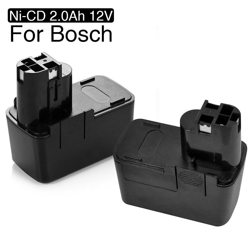 2 pz 12 v Ni-CD 2000 mah Replacement Power Tool Batteria Per Bosch 12 v 2.0Ah BAT011 BH1214H BH1214L 3315 k 3500 B2300