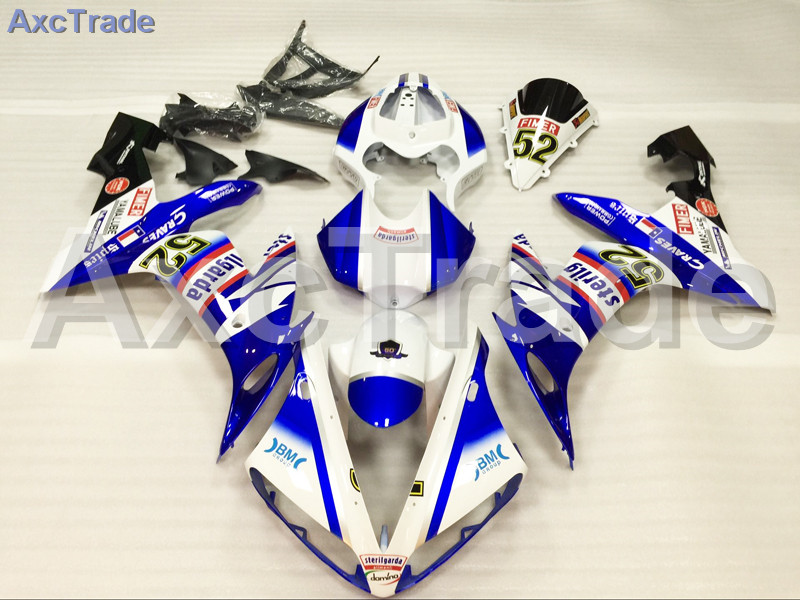 Motorcycle Fairings Kits For Yamaha YZF-R1000 YZF-R1 YZF 1000 R1 2004 2005 2006 ABS Injection Fairing Bodywork Kit Blue White high quality abs fairing kit for yamaha r1 2002 2003 red flames in black fairings set injection molding yzf r1 02 03 yz32
