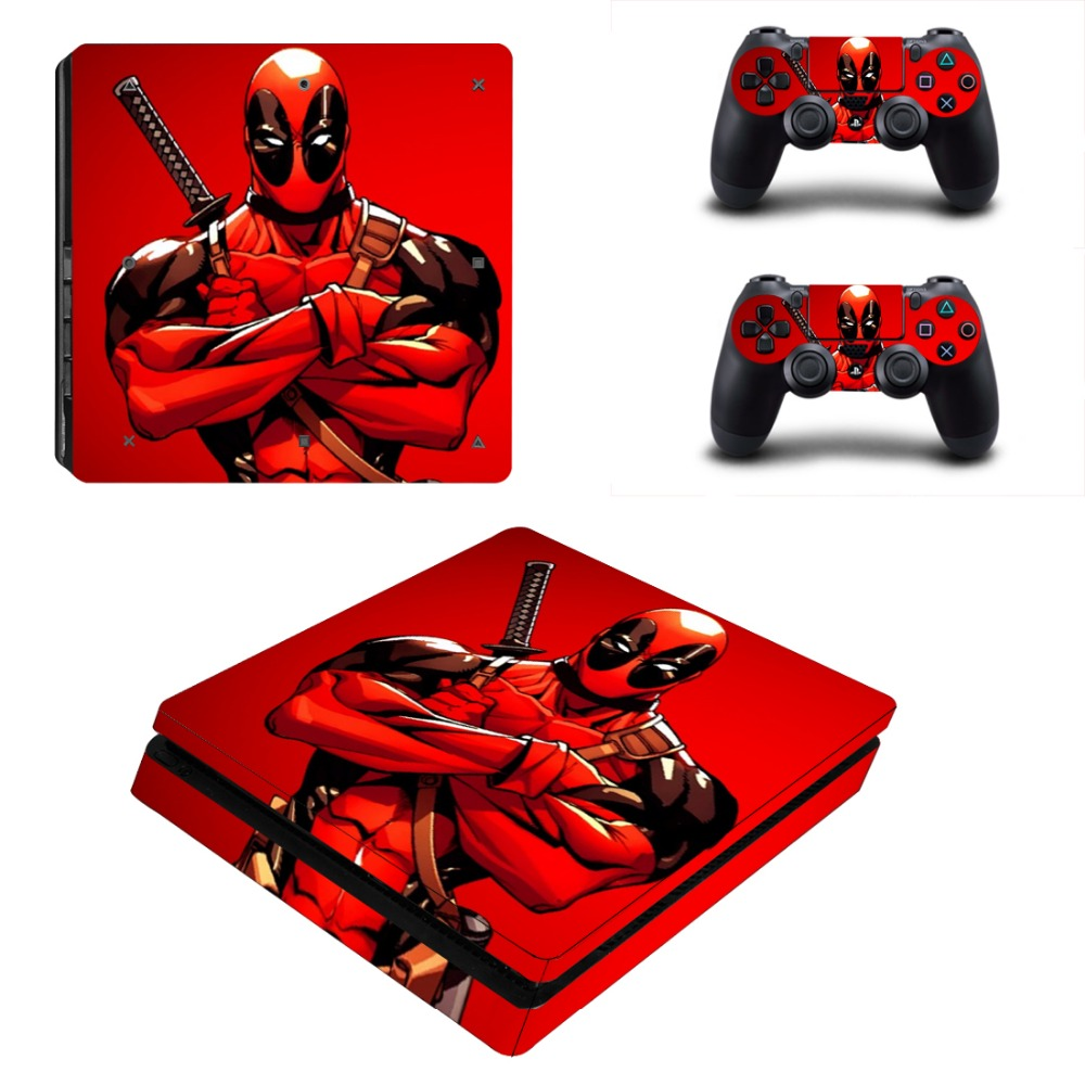 DeadPool Vinyl Decal Skin Stickers for PS4 Slim Playstaion 4 PS 4 Slim Console & Controllers image