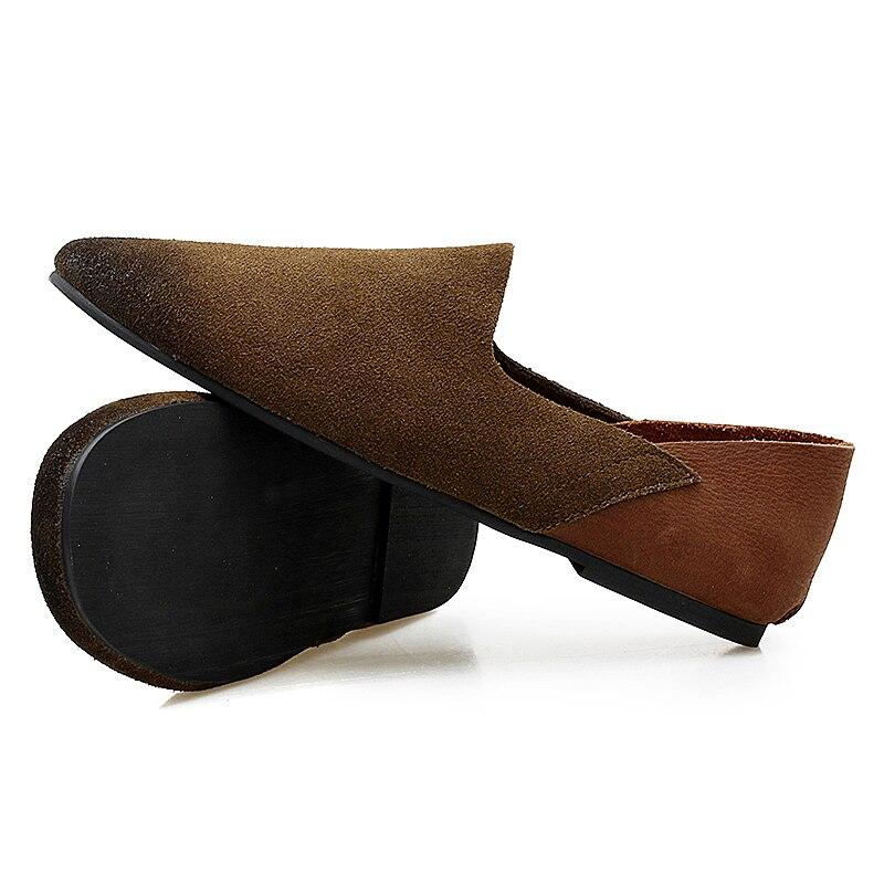 E Sapatos Preto Peas Inglaterra marrom Europa Unidos Pé Nos Estados Homens OOqd0