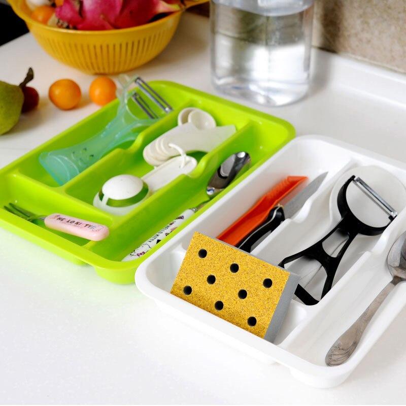 Home Office Storage Adjustable Drawer Organizer Home Kitchen Storage Box Board Divider Makeup Tableware Storage Boxes