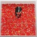 2mm SS6 5000 unids/pack Resina Roja Jalea AB Rhinestone Hotfix Strass Uñas Pegamento En Clavo de DIY Decoración Arte