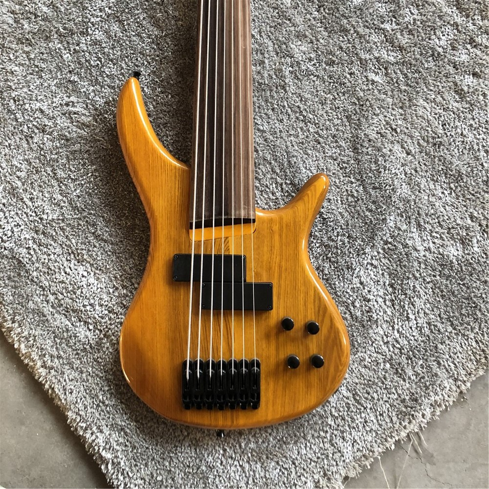 kaiyun custom high quality 7 string electric bass the body of an alder rosewood fingerboard. Black Bedroom Furniture Sets. Home Design Ideas