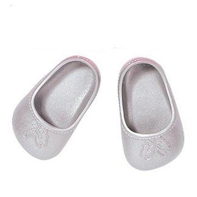 Silver Butterfly Shoes Doll Shoes for 43cm Dolls Baby Birth Zapf Doll Accessories Doll Shoes for Girls Gifts X1