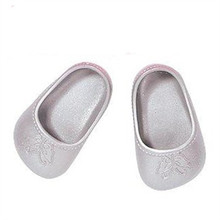 Silver Butterfly Shoes Doll Shoes for 43cm Dolls Baby Birth Zapf Doll Accessories Doll Shoes for