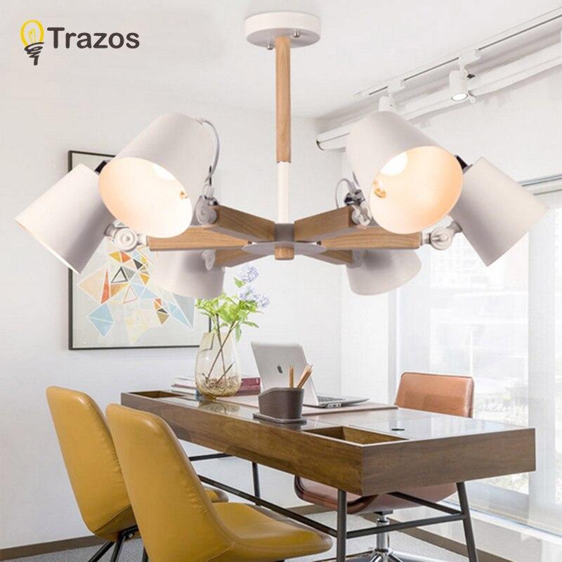 Luzes de Teto moda colorida de madeira moderna Fonte de Luz : Lâmpadas Led