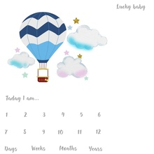 3f1f6c9f9c Laeacco Hot Air Balloon Cloud Star Baby Newborn Mark Photography Background  Customized Photographic Backdrop For Photo