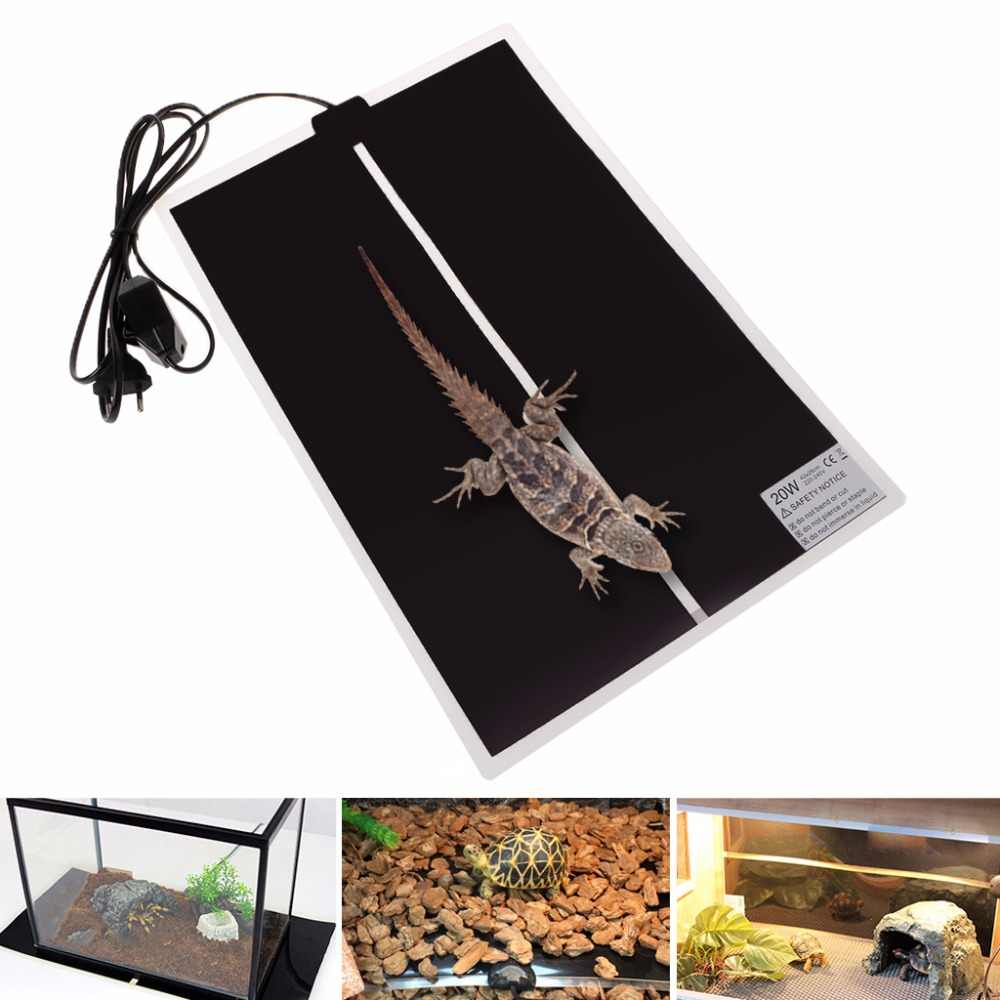 5/7/14/20/28W 220-240V EU Plug Adjustable Temperature Pet Heating Mat Tortoise Amphibians Warmer Bed Mat Reptiles Supplies C42
