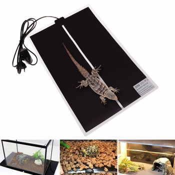 5/7/14/20/28W 220-240V Spina di UE Temperatura Regolabile Riscaldamento Pet zerbino Tartaruga Anfibi Bed Warmer Zerbino Rettili Forniture C42