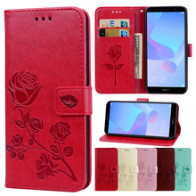 Leather Case For Huawei Y5 Y6 Y7 Prime 2018 P20 Lite Pro Nova 3 3e 3i P Smart Plus Mate 20 Lite Pro Flower Phone Cases Cover leather case for huawei y5 y6 y7 prime 2018 flower phone cases cover for huawei honor 7a ru version pro nova 2 lite