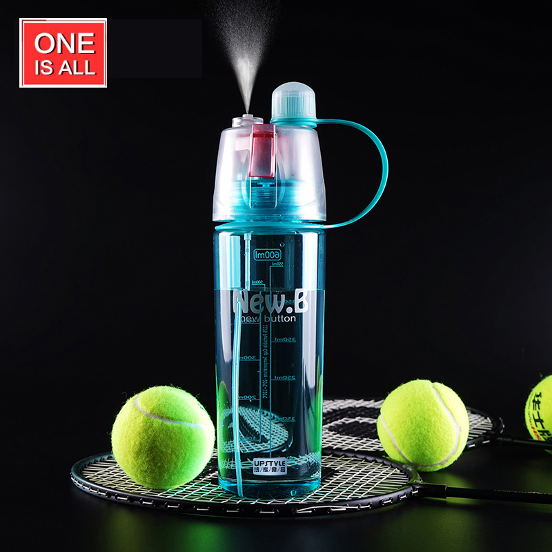 600ml Creative Water Spray My Sports Bottle Water For Bottle Straw Space Resistant Nutrition Cycling Bike Bottles Tumbler