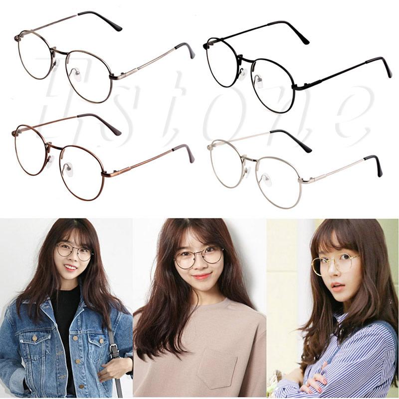 7bc400440ebd Unisex Fashion Women Girls Thin Metal Spectacle Frame Eyeglasses ...