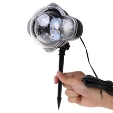 US/EU plug Waterproof LED Stage Light Snowfall Rotating Spotlight Laser Projection Lamp