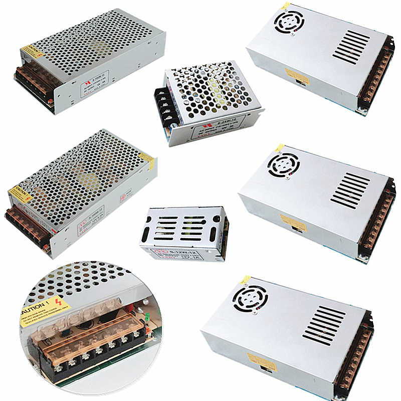 Lampu Transformer 1A 2A 3A 5A 10A 15A 20A 30A 40A 50A 110-220 V untuk 12 V LED driver Switch Power Supply Adapter untuk LED Strip