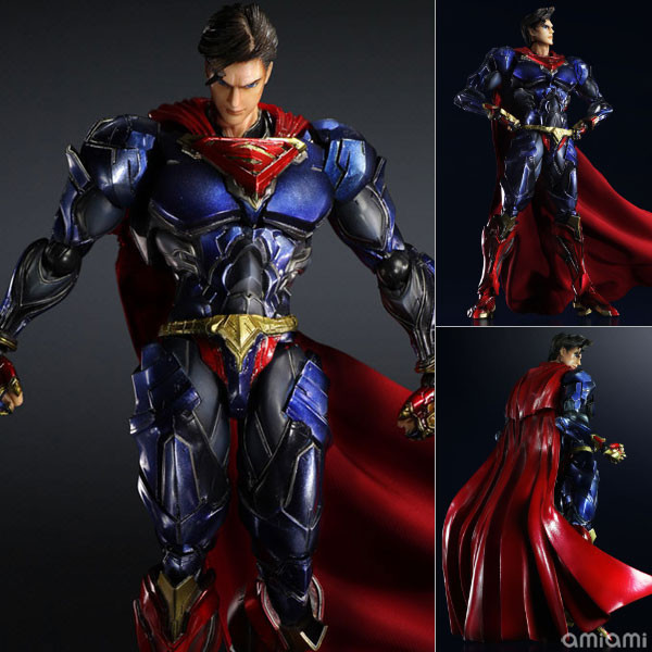Superman Action Figure Play Arts Kai Movable Justice League PVC Toys 260mm Anime Movie Model Superman Playarts Kai star space war series the rebel snowspeeder set educational building blocks bricks boy toys model gifts compatible lepins 10129