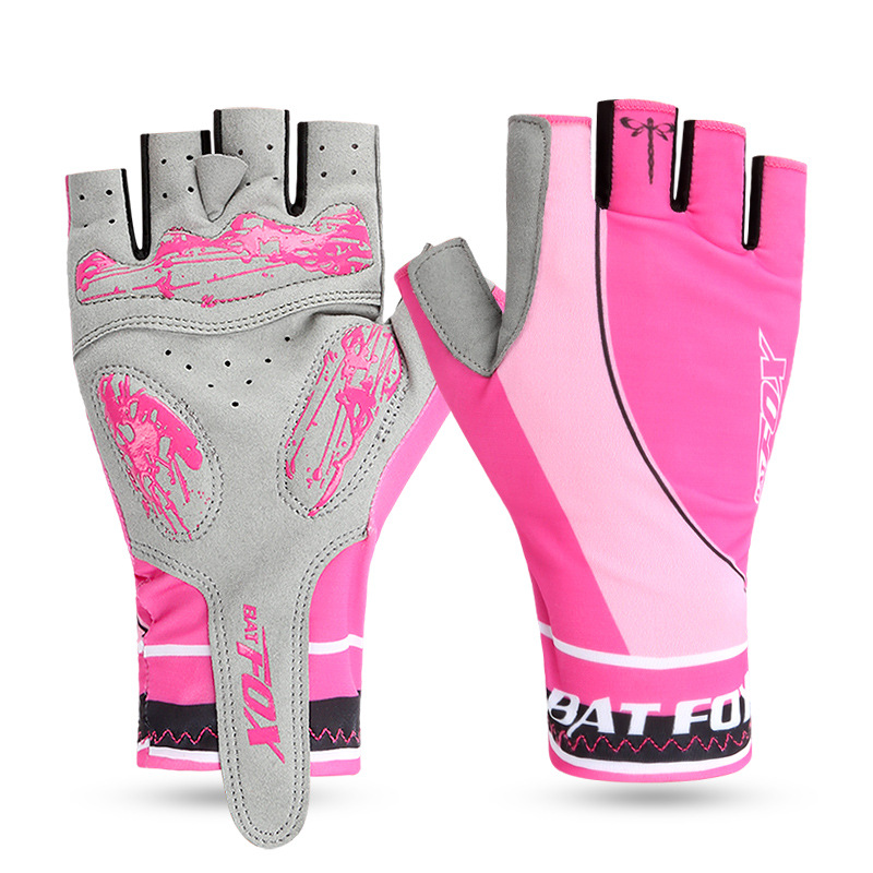 Купить с кэшбэком BATFOX Men Women Full Finger Cycling Gloves Nylon Road Mountain Bike Bicycle MTB Downhill Riding Gloves gel pad Luva Ciclismo