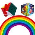 Rainbow shenshou 3x3x3 cubo mágico 56mm stickerless velocidad cubo neo para niños educativos y de aprendizaje juguetes para niños de regalos
