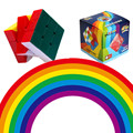 Shenshou Rainbow 3x3x3 Magic Cube 56mm Stickerless Speed Neo Cube for Kids Educational & Learning Toys for Children Gifts